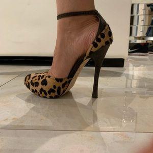 L.A.M.B. Leopard heels